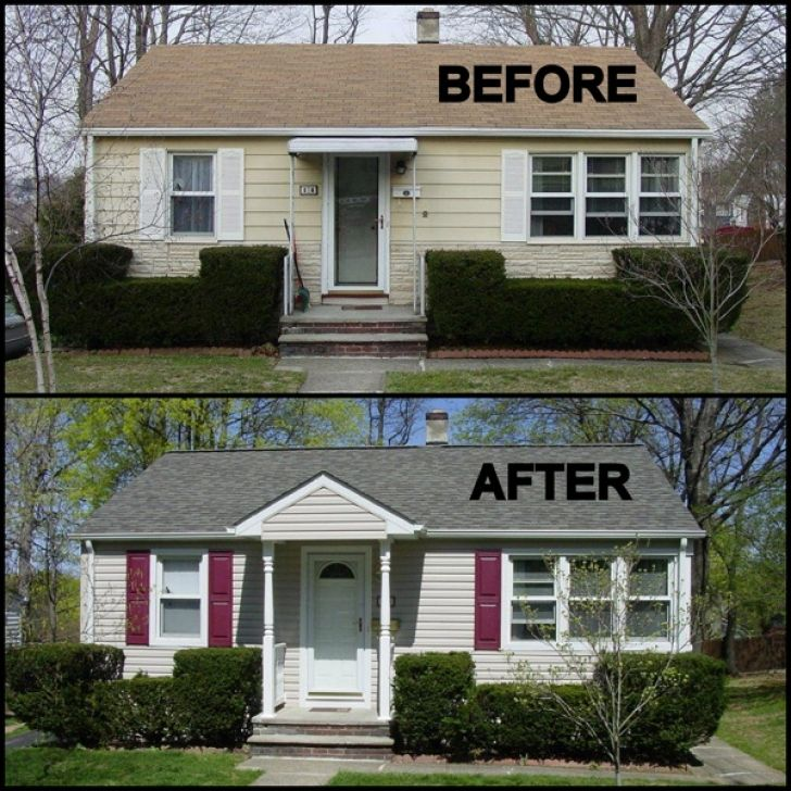 Painting Aluminum Siding Home Before And After New Siding From George J Keller And Sons Llc Pic Painting Aluminum Siding Aluminum Siding Colors Aluminum Siding