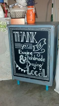Great idea for a handmade display or market stall - thank your customers for supporting local products and businesses! #roadshows #DIY