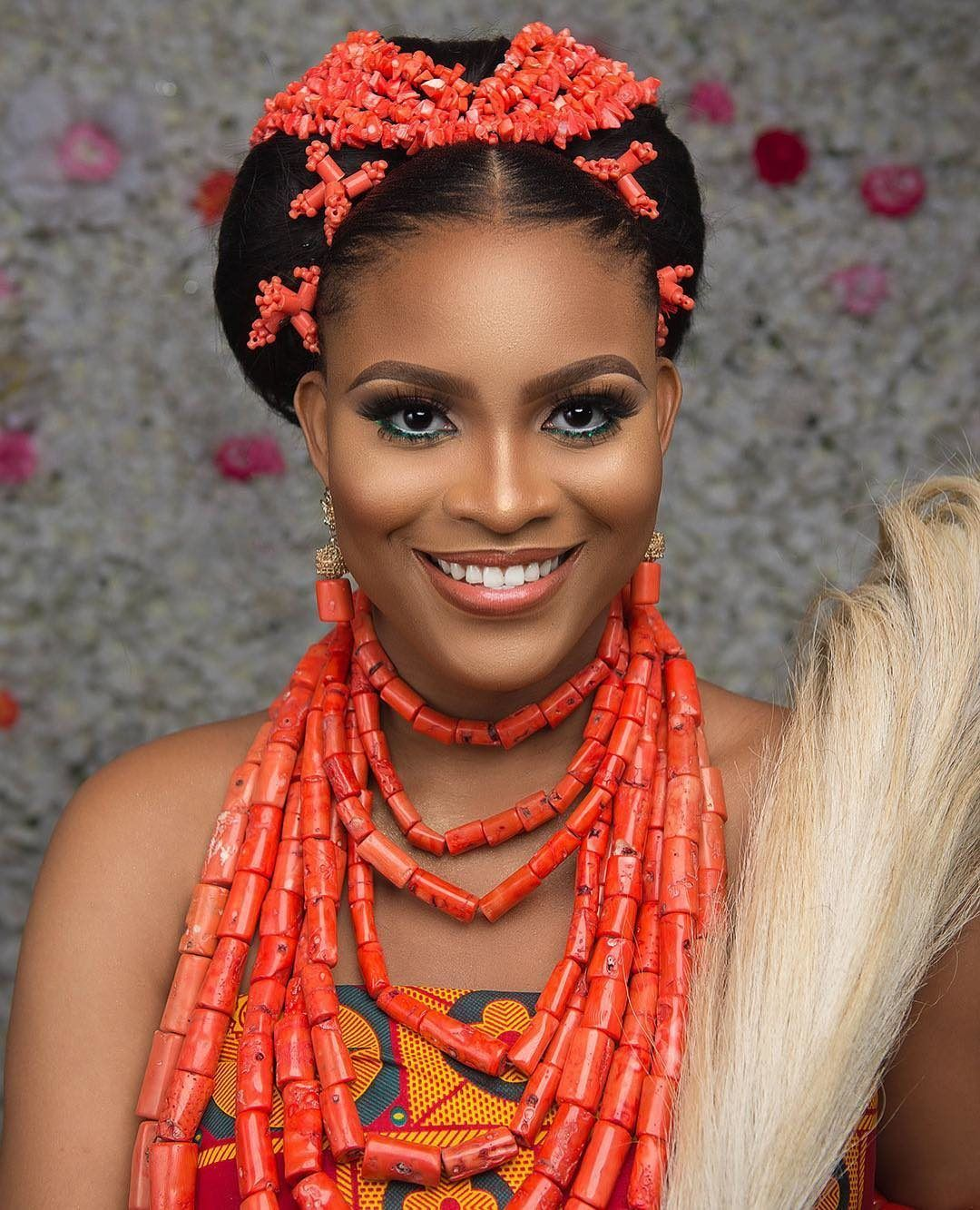 Igbo Traditional Wedding Hairstyles Drop Waist Igbo Brides Need To See This Bridal Beauty In 2020 Igbo Bride Igbo Traditional Wedding Bella Naija Weddings