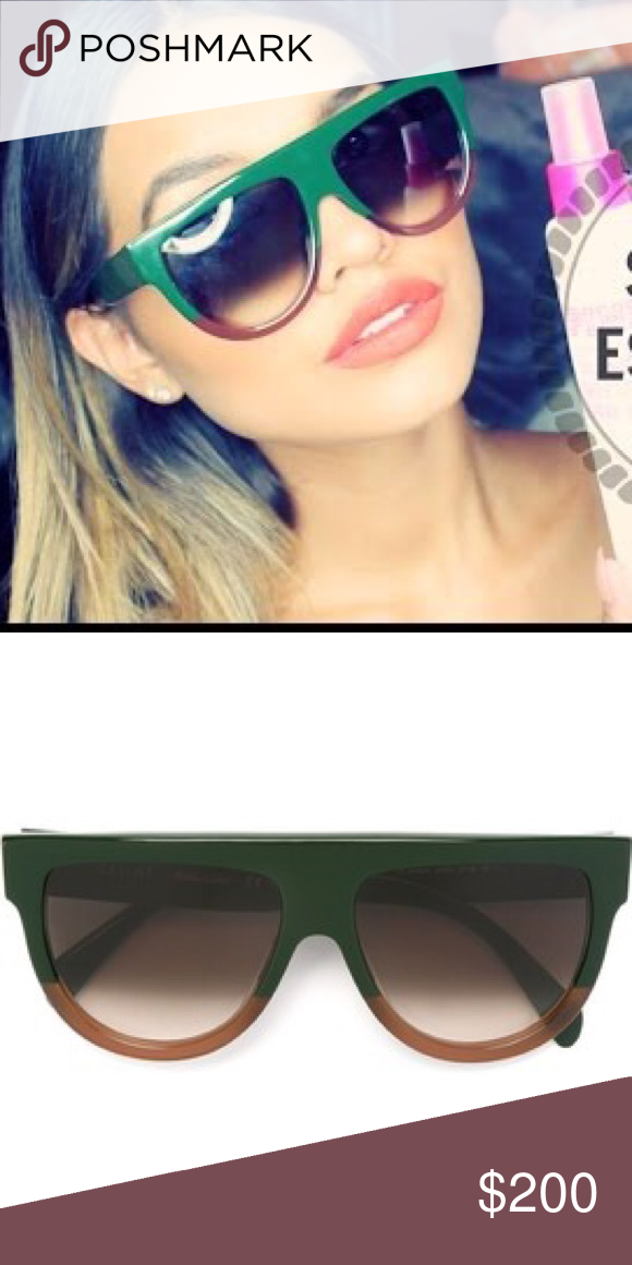 10a8db4084e Celine SHADOW Green blonde sunglasses Céline CL 41026 S SHADOW dark green  blonde havana dark brown shaded (JAR Z3) Gently used.