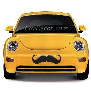 Fun Black Mustache Car Decal Sticker Cool Car Accessory Cool Car Accessories Girly Car Car Decals Stickers