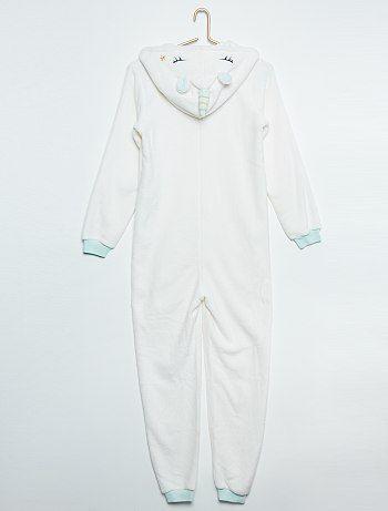 plus près de nouvelle version vêtements de sport de performance Pyjama combinaison 'Licorne' blanc Fille adolescente - Kiabi ...