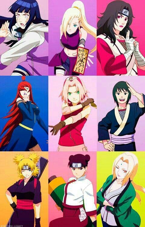 Anime Characters Named Sakura : Naruto characters hinata ino kurenai mei sakura