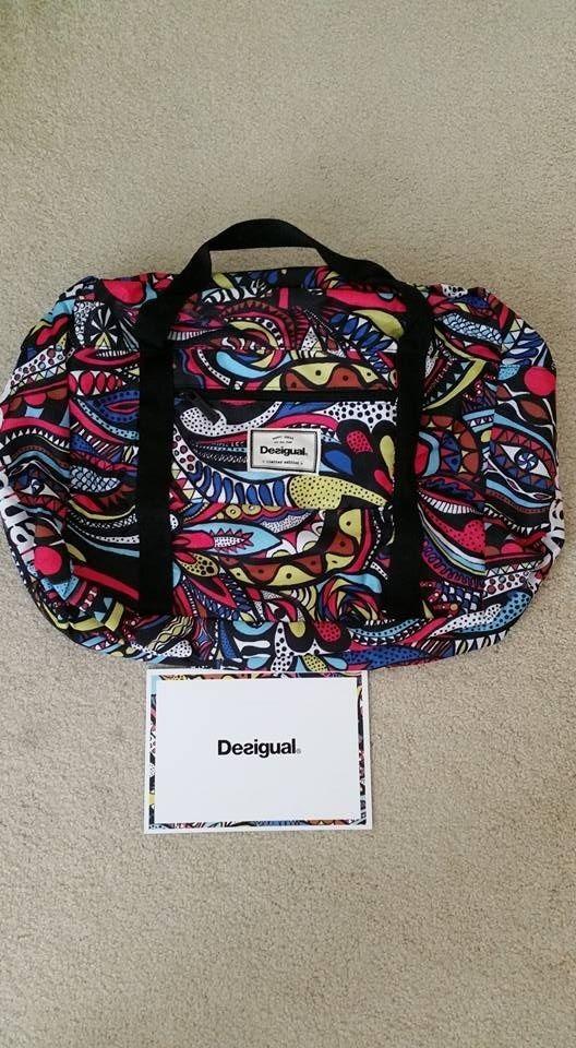 NEW Original DESIGUAL sports gift bag Limited Edition Multi Color #Desigual