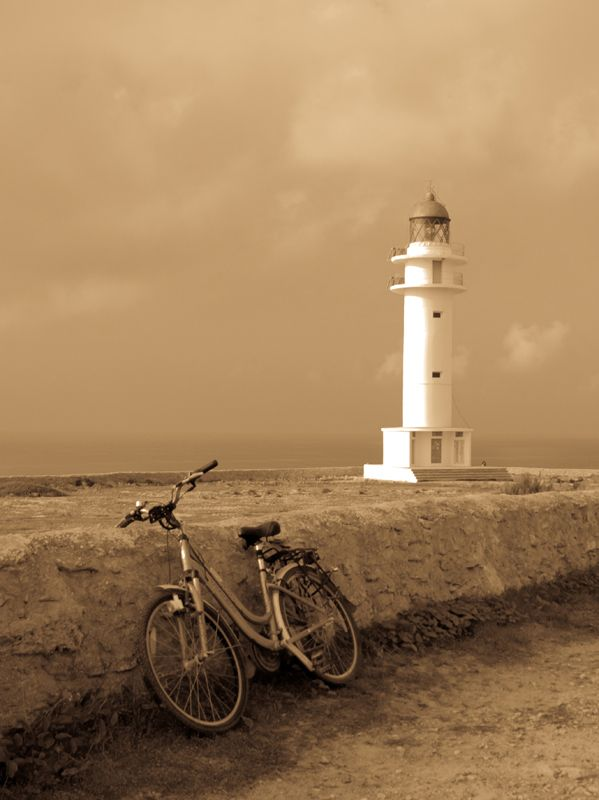 Lighthouse on Cap de Barbaria on the island of Formentera