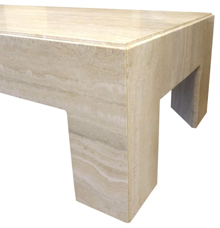Best Chunky Travertine Coffee Table For Sale At 1Stdibs 400 x 300