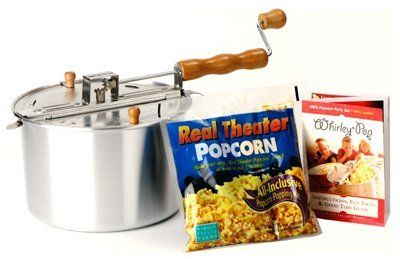 Price: $22.82 - http://bit.ly/2lAoYbS - Wabash Valley Farms 25008A The Original Whirley Pop Stovetop Popcorn Popper - 6 QT, Original Whirley Pop Stovetop Popcorn Popper, Brings The Nostalgia Of At Home Popcorn Popping Back To Your Family, Patented Stirring Mechanism, Perfectly Positioned Steam Vents, & Light Weight Aluminum Pan, Making Movie Style Popcorn At Home Is Quick & Easy, Each Popper Also...