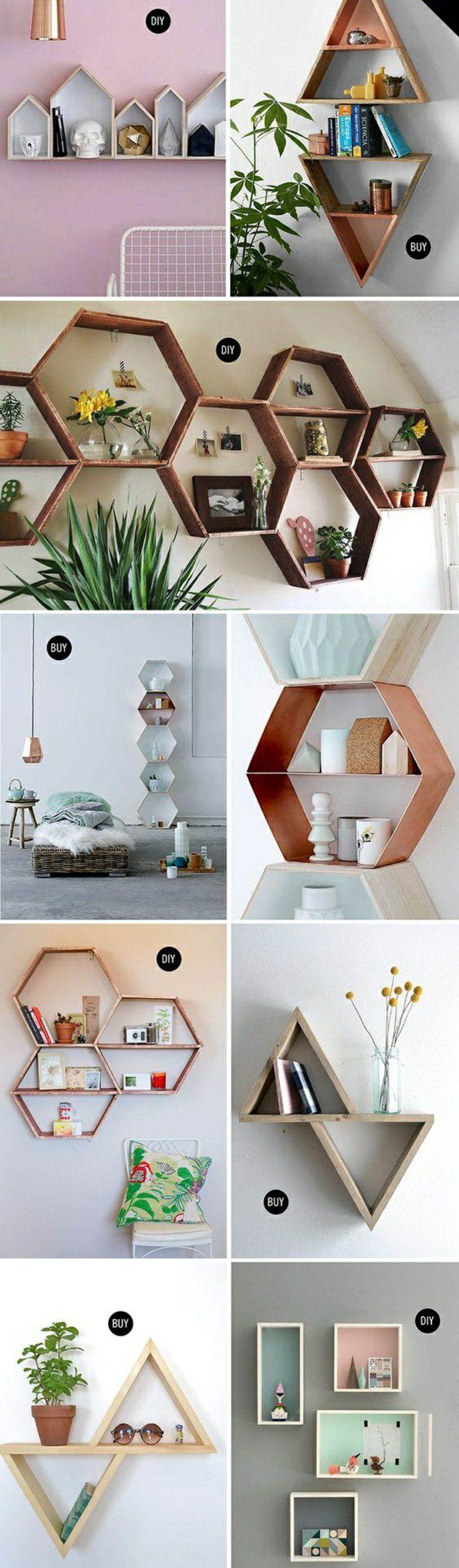 ▷ 1001+ Ideen und Inspirationen für ein DIY Wandregal #wohnzimmerideenwandgestaltung