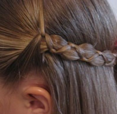 Uneven braid Fat middle strand, 2 skinny outside strands ...