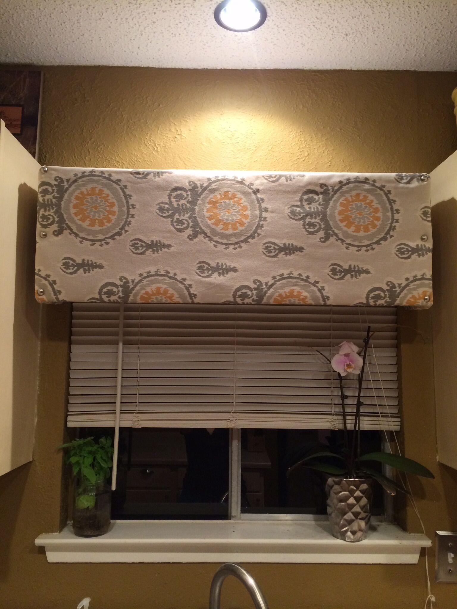 Diy Cornice Valance For Kitchen Window Diy Cornices