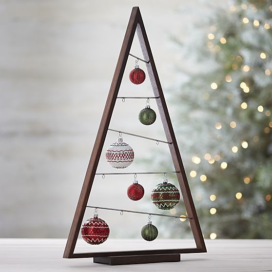 Large A Frame Ornament Tree in Outlet Christmas  Crate and Barrel
