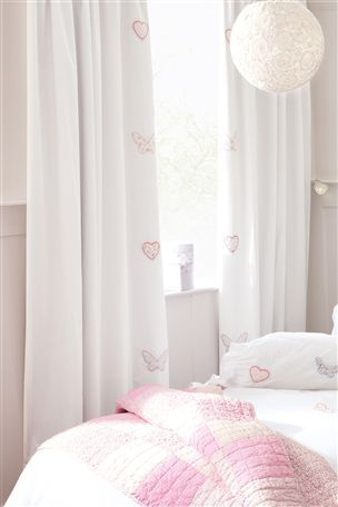 Butterfly Hearts Pencil Pleat Curtains
