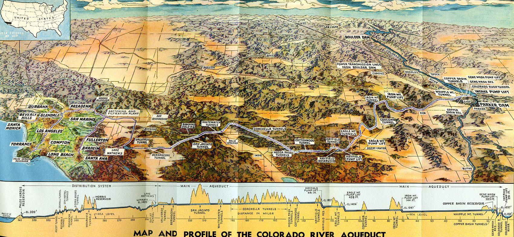 Colorado River Aqueduct 1938 Metropolitan Water