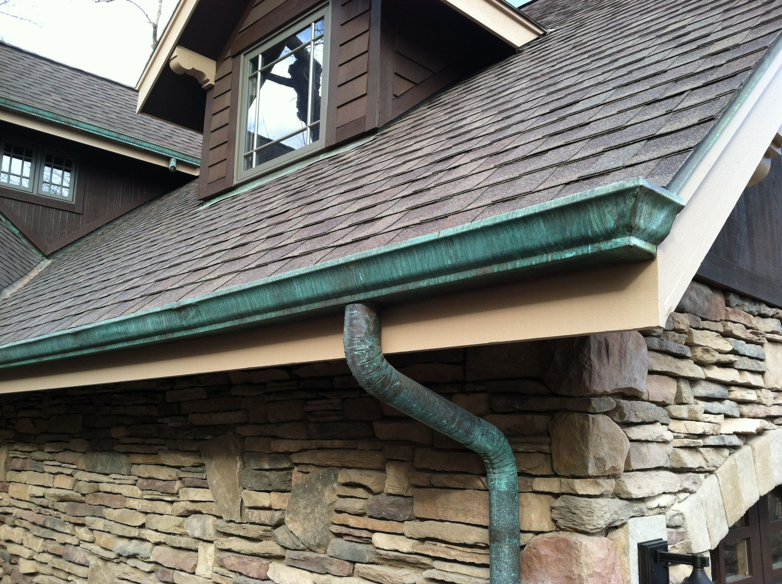 Patinated Copper Gutters Home Pinterest