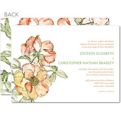 Dreamy Peony Invites - From Tiny Prints - for more gerat invitations visit us at Bride's Book  http://www.yourinvitationplace.com/Catalog.aspx?Theme=Popular&WebName=bridesbook