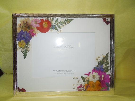 Pressed Flowers 8 X 10 Metallic Picture Frame With 5 X 7 Photo