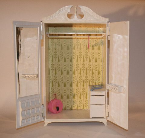 1960s Susy Goose Barbie Dollu0027s Clothes Wardrobe Armoire Closet