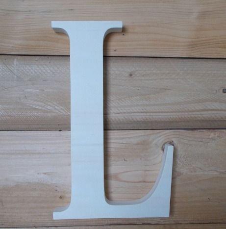 Initiale en bois - lettre décorative en bois - grande lettre en ...