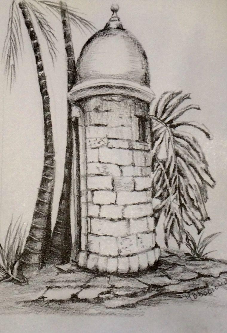 Puerto r pencil drawings