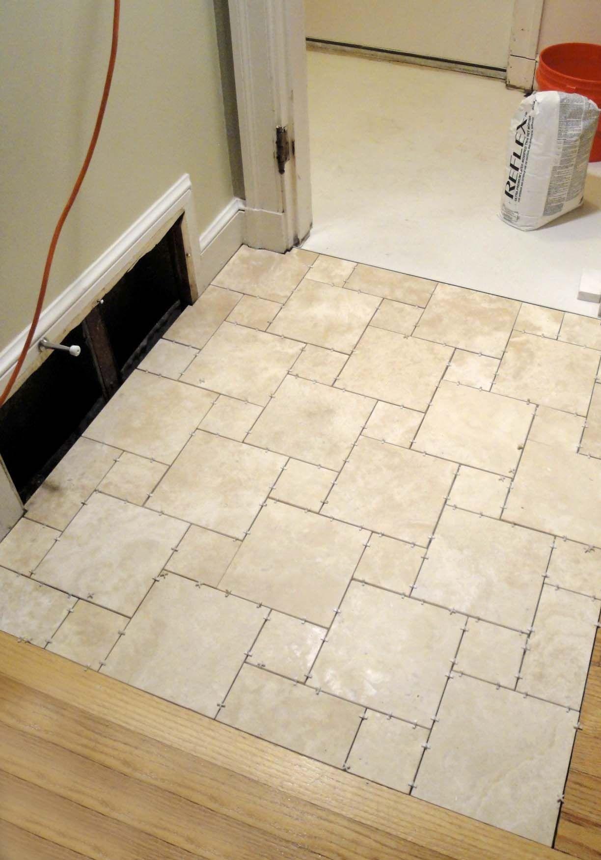 Best Kitchen Gallery: Enjoyable Travertine White Porcelain Bathroom Floor Tile Ideas As of Bathroom Floor Tile Pattern Ideas on rachelxblog.com