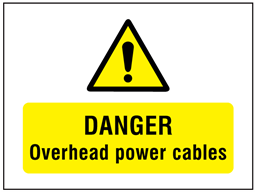 Danger Overhead Power Cables Symbol And Text Safety Sign Traffic Symbols Signs Text Signs