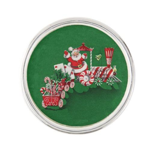 Vintage Santa Claus Peppermint Candy Train