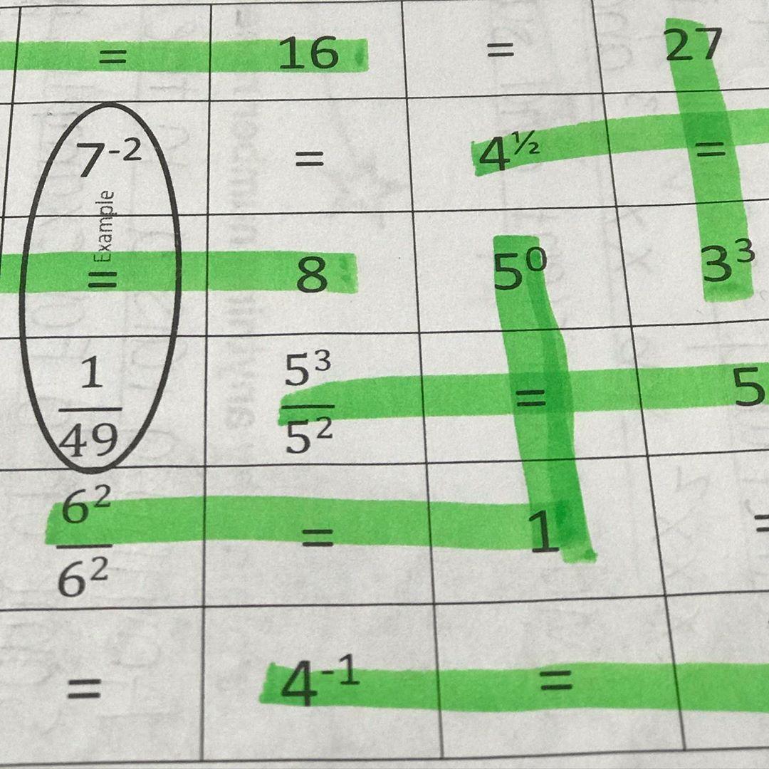 Math Teacher High School On Instagram Exponent Seek And