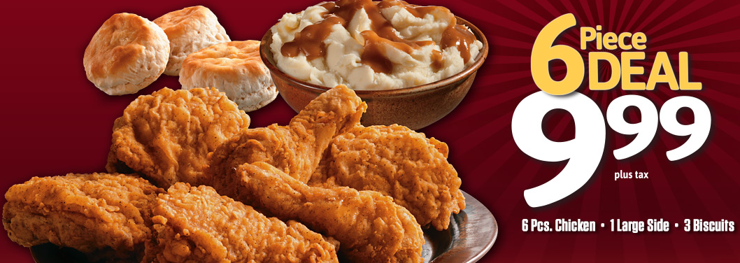 Kfc 6 piece deal 6 pieces chicken 1 large sides 3 - Kentucky french chicken ...