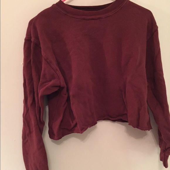 Maroon sweatshirt Light stain in sleeve, bot noticeable Brandy Melville Sweaters Cardigans