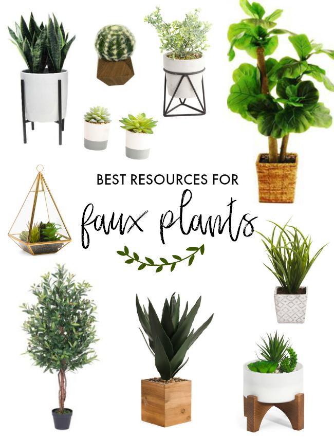 Affordable Faux Plant Resources Our Plant Stand Workshop La Petite Farmhouse Faux Plants Plants Bedroom Plants