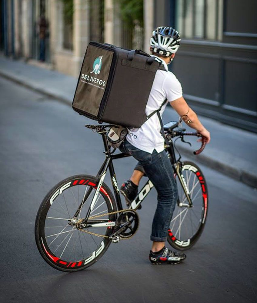 Insulated Food Delivery Bag For Cycle Bike Scooter Courier For