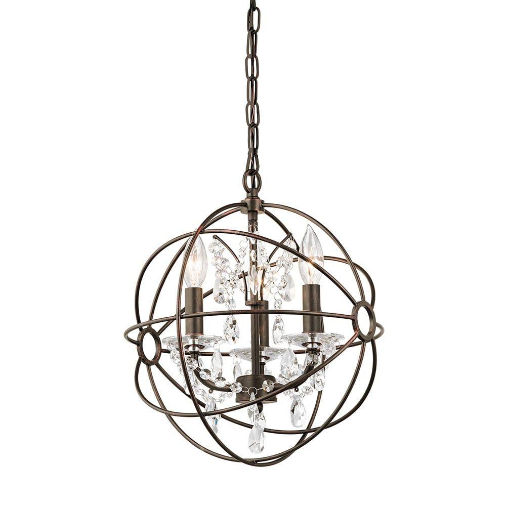 shop kichler exclusives 34800 vivian 3 light crystal accent pendant