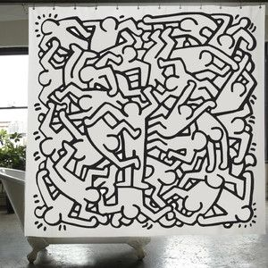 Keith Haring Shower Curtain 29 Now Featured On Fab I Love