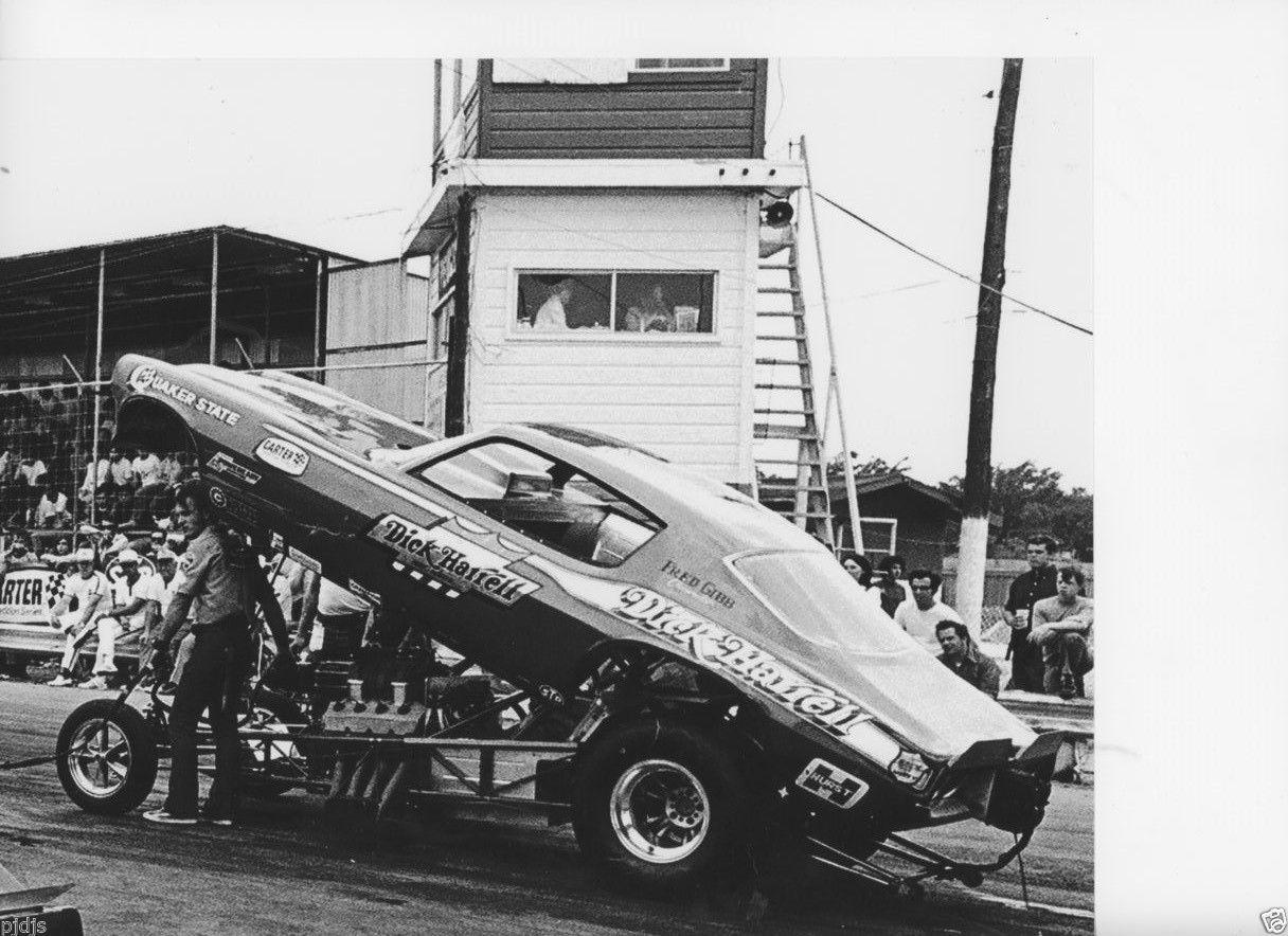Drag race car paint schemes - Dick Harrell Camero Funny Car At Green Valley Raceway