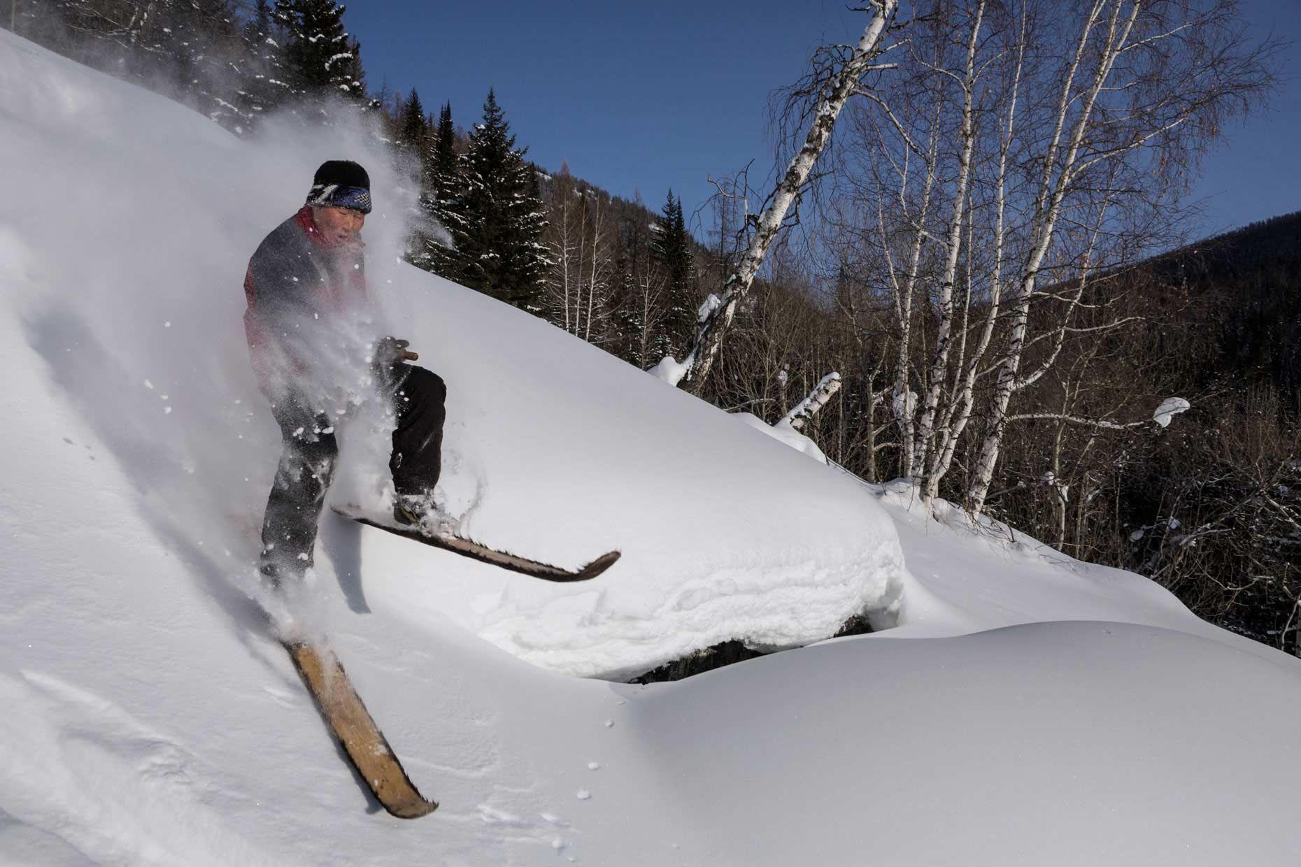Jonas Bendiksen, Photographer - Last-of-the-First-Skiers - 14 | Skier, Altai mountains, Photographer