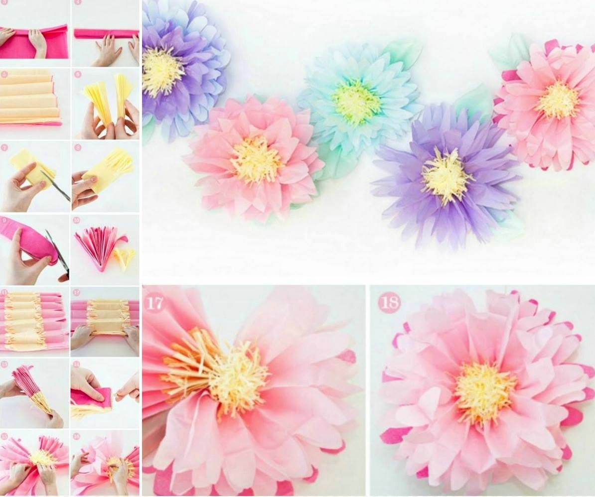 Giant Tissue Paper Flowers Video Instructions Tissue Paper Flowers