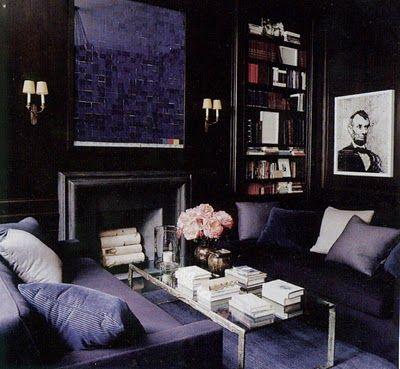 Dark Purple Contemporary Living Room