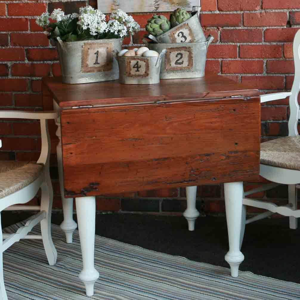 Antique wood dining tables breakfast table with reclaimed heart pine top  relax  pinterest