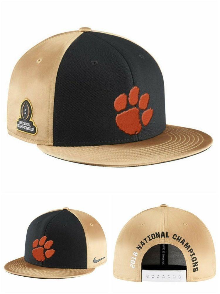 c1f99aeceefc Nike Clemson Tigers Official Locker Room National 2016 NCAA Champs Hat Black   Nike  ClemsonTigers