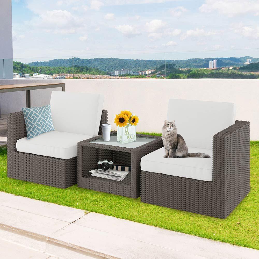 Buy Gonave PE Wicker Outdoor Modular Leisure Sofa - Ash ... on Luxo Living Outdoor id=23722