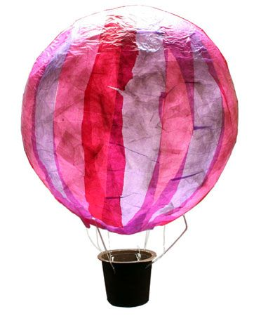 hot air balloon lantern hei luftballon laterne kids. Black Bedroom Furniture Sets. Home Design Ideas