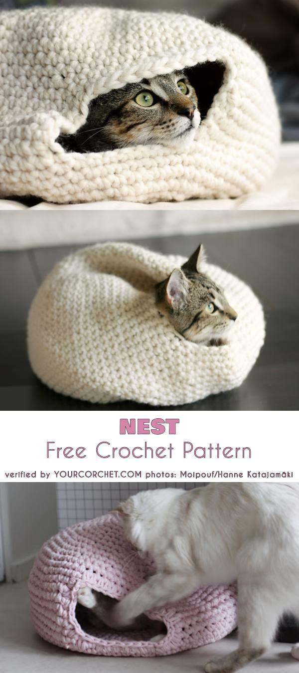 Nest Free Crochet Pattern | diy: animals | Pinterest | Cesta para ...