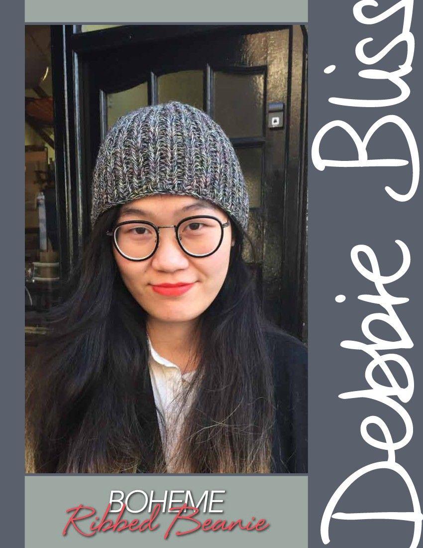 Boheme – Ribbed Beanie by Debbie Bliss | Knitting - Debbie Bliss ...