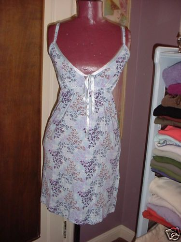 Charlotte Floral Nightie Nightgown Chemise size Large New NWT Modal  #Charlotte #Chemise