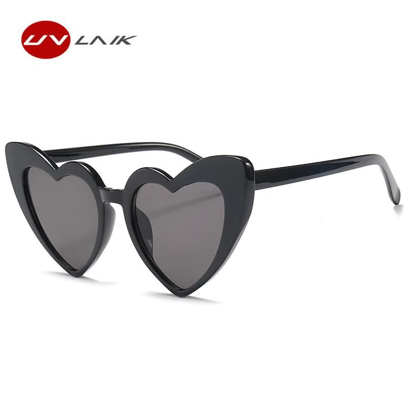 8b33c441b4 UVLAIK Heart Sunglasses Women brand designer Cat Eye Retro Love Heart  Shaped Glasses Ladies Shopping Sunglass