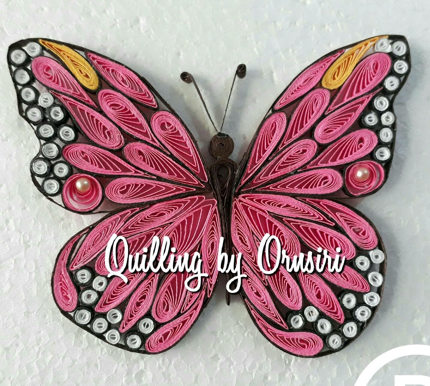 Pin by Chameeka on Paper quiling | Pinterest | Quilling, Paper ... for Quilling Butterfly Tutorial  585hul