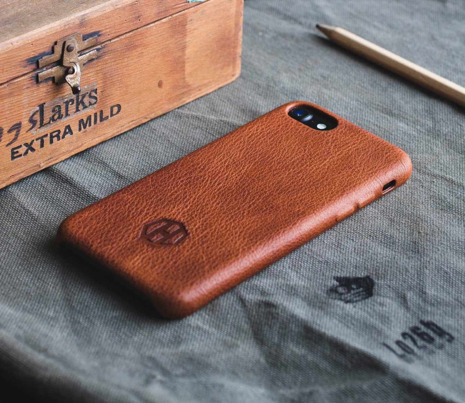 Brown leather iphone 7 plus case iphone leather case