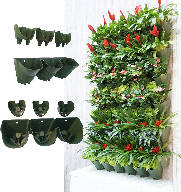 Worth Self Watering Vertical Garden PlanterxFF0C;Greening Wall  FlowerpotxFF0C;Hanging Plant Pots With 3