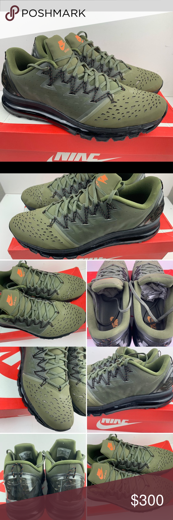 Details about Nike Air Max PacFly Mens Sneakers RARE Olive