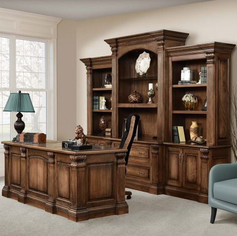 Solid Wood Handcrafted Montereau Office Suite Office Furniture